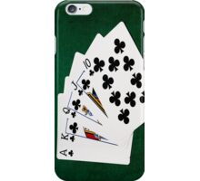 Poker Hands - Royal Flush Clubs Suit iPhone Case/Skin