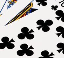 Poker Hands - Royal Flush Clubs Suit Sticker