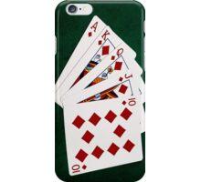 Poker Hands - Royal Flush Diamonds Suit iPhone Case/Skin