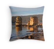 Snug beach Throw Pillow