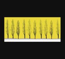 Poplars in a Yellow Sky Baby Tee