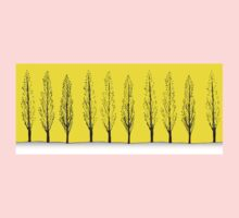Poplars in a Yellow Sky One Piece - Long Sleeve