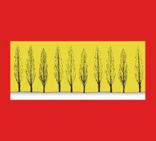 Poplars in a Yellow Sky Kids Tee