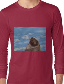 Daydreaming seal Long Sleeve T-Shirt