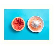Juiced Grapefruit Art Print