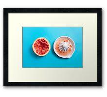 Juiced Grapefruit Framed Print
