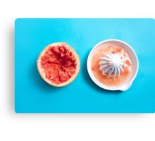Juiced Grapefruit Canvas Print