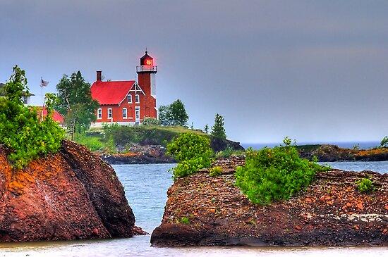 Eagle Harbor Lighthouse II by Mark Bolen