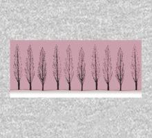 Poplars in a Pink Sky Kids Tee