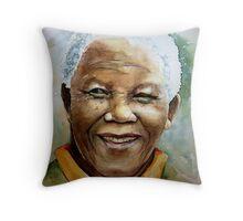Nelson Rholihlahla Mandela Throw Pillow