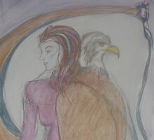 Eagle Goddess  by Anthea  Slade