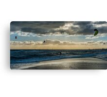 Brighton Kite-Surfing Canvas Print