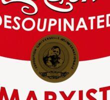 Zizek's Desoupinated Marxist Lacanian Soup Sticker
