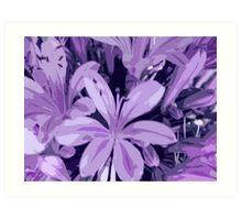 Lilac Ladies Art Print