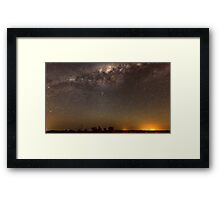 Milky Way over Parkes.. Framed Print
