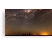 Milky Way over Parkes.. Canvas Print