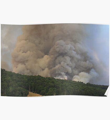 Smoke from the bushfire Poster