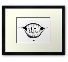 """""""SMILE"""" - The """"PLAYFUL TYPE"""" Collection Framed Print"""