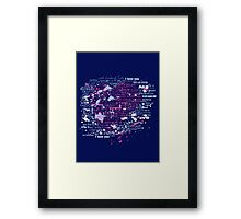 Multi-lingual Message of Love Framed Print