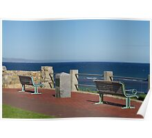 a sea side view Poster