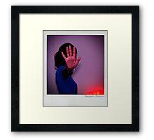 Hand Polaroïd Framed Print
