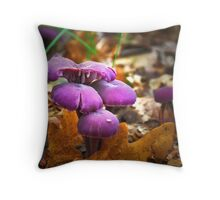 The colors of the forest Throw Pillow