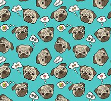 Pug dogs by Zoia Vavrenchuk