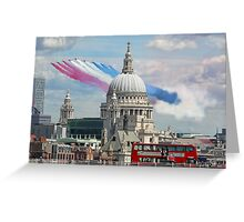 VE Day 70 Years On - The Red Arrows Over London 2015 Greeting Card