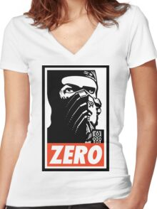 Sub Zero Has A Posse Women's Fitted V-Neck T-Shirt