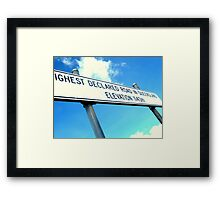 The High Road Framed Print