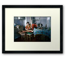Cleaning Strawberries Framed Print