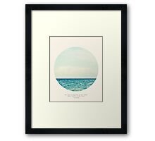 Salt Water Cure - Circle Print Framed Print
