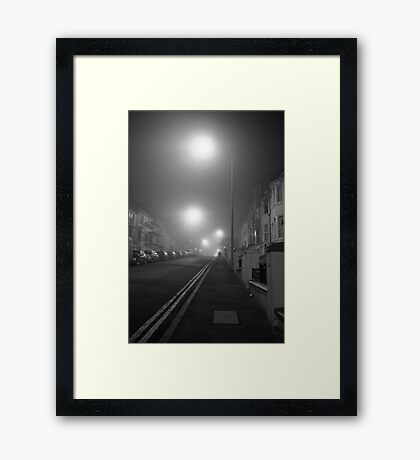 Foggy Brighton Night Framed Print