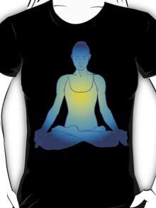 illustration beautiful woman doing yoga meditation T-Shirt