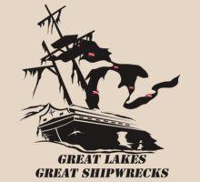 Great Lakes, Great Shipwrecks - Black by Karri Klawiter