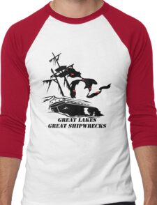 Great Lakes, Great Shipwrecks - Black Men's Baseball ¾ T-Shirt