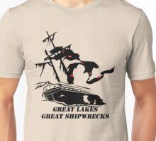 Great Lakes, Great Shipwrecks - Black Unisex T-Shirt