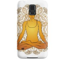 beautiful woman doing yoga meditation Samsung Galaxy Case/Skin