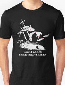 Great Lakes, Great Shipwrecks - White T-Shirt