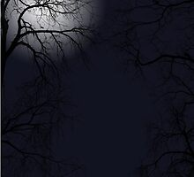 Trees in the Moonllight by 6Websters