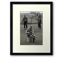Tribute to the fallen soldiers Framed Print