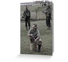 Tribute to the fallen soldiers Greeting Card