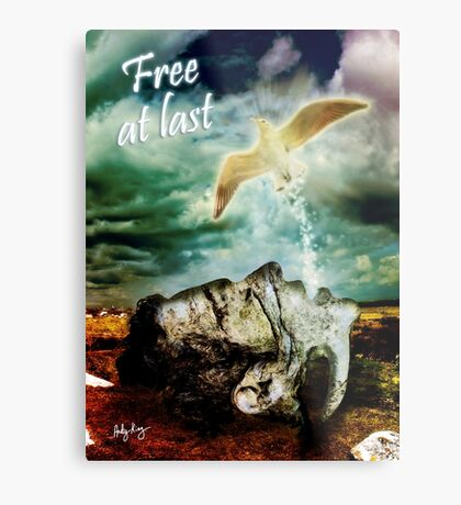 Free At Last (With Text) Metal Print
