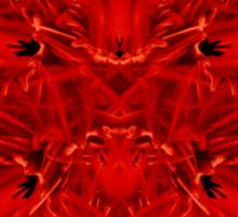 Red Heart of Flowers Sticker