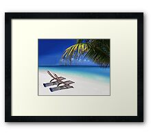 Relax at the Beach  Framed Print