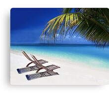 Relax at the Beach  Canvas Print