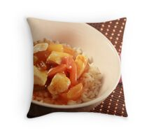 Sweet and sour chicken Throw Pillow