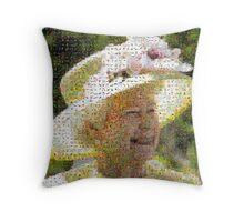 Queen Elizabeth II of the United Kingdom Throw Pillow