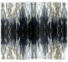 metallic feathers Poster
