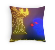 The Angel of the Lord and Mary Throw Pillow